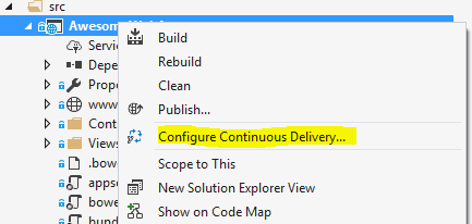 Continuous Delivery from VS2017